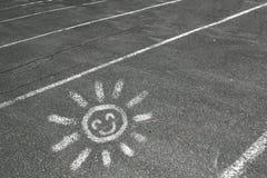Sun sur la route Photographie stock