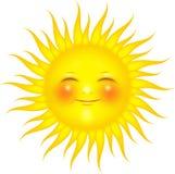 Sun sur le blanc Images stock