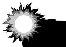Sun sur le fond blanc illustration de vecteur