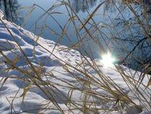 Sun sur une eau Photo stock