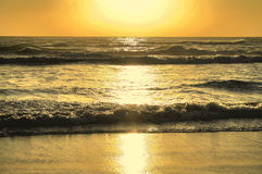Sun On Surf Background Royalty Free Stock Photos