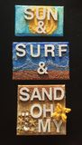 Sun, Surf & Sand Wall Hanging Royalty Free Stock Photo