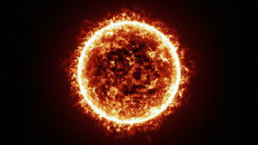 Sun surface and solar flares animation stock footage