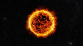 Sun surface Stock Photography