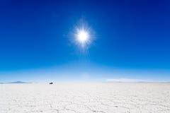 Sun, SUV, y sal Imagen de archivo libre de regalías