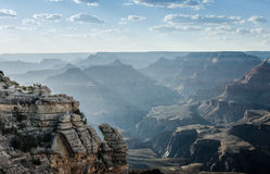 Sun Sweeps Mather Point, Grand Canyon Stock Photography