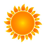 Sun symbol. Illustration of a sun symbol Royalty Free Stock Photos