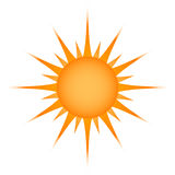 Sun symbol. Royalty Free Stock Photography