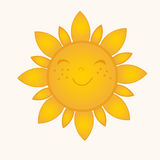 Sun symbol. Royalty Free Stock Photos