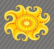 Sun symbol Royalty Free Stock Photography