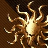 Sun symbol. Sun as metal Stock Photo