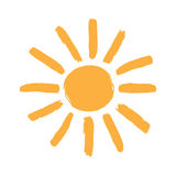 Sun symbol Royalty Free Stock Images
