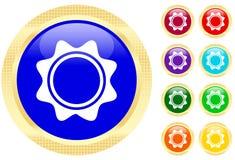 Sun symbol. On shiny buttons Royalty Free Stock Photos