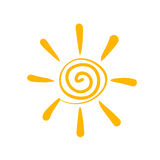 Sun symbol Royalty Free Stock Photos