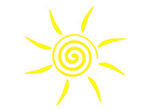 Sun symbol. Illustration of sun symbol (Vector is available Royalty Free Stock Photos