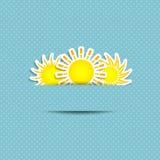 Sun Symbol Background Stock Photo