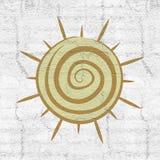 Sun symbol Royalty Free Stock Photos