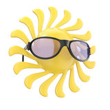 Sun symbol in glasses Royalty Free Stock Images