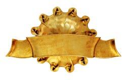 Sun-Symbol mit Fahne Stockfotos