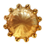 Sun symbol. An ornate sun symbol carved in golden metal Stock Photography