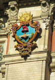 Sun symbol on Palacio de Aguas Corrientes in Buenos Aires Royalty Free Stock Photography