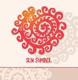 Sun symbol. Royalty Free Stock Photo