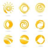 Sun-Symbole Lizenzfreies Stockfoto