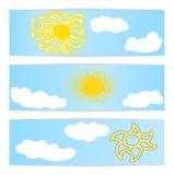 Sun symboler Royaltyfri Fotografi