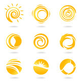 Sun Symbols Royalty Free Stock Photo