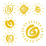 Sun symbols Stock Photos
