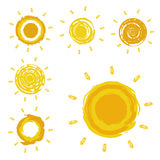 Sun symbols Stock Image
