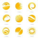 Sun Symbols Royalty Free Stock Photos