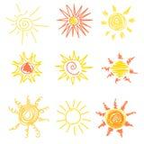 Sun symbols Stock Images