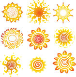Sun symbols Stock Photos