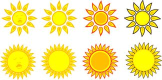 Sun Symbols Royalty Free Stock Photography