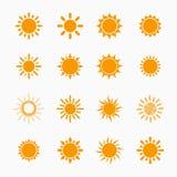 Sun symbols set Royalty Free Stock Photography