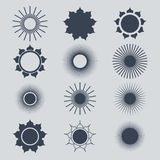 Sun symbols set.vector illustration.natute Royalty Free Stock Images
