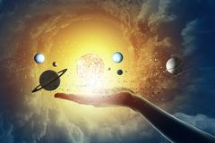 Sun system Stock Photo