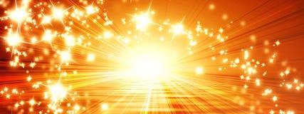 Sun sztandar Obrazy Royalty Free