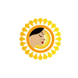 Sun tan logo Royalty Free Stock Image