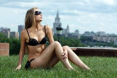 Sun tan urban Royalty Free Stock Photo