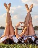 Sun Tanning, Leg, Summer, Vacation stock images