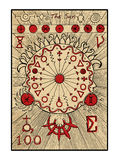 The Sun. The tarot card Royalty Free Stock Photography