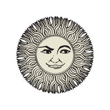 Sun tattoo Royalty Free Stock Photos