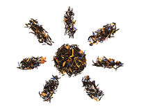 Sun tea. On the isolated background Stock Image