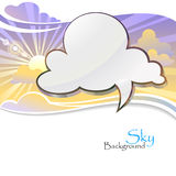 Sun in the Technology Cloud Stock Photos