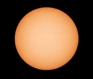 Sun through telescope. Royalty Free Stock Images