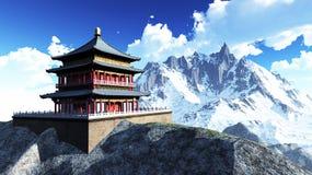 Sun-Tempel - buddhistischer Schrein stockfoto