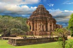Sun tempel i Konark, Indien Royaltyfria Bilder
