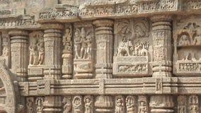 Sun Temple Beautiful Ancient Erotic Sacred Art Sculptures. India Konark Sun Temple Beautiful Ancient Erotic Sacred Art Sculptures stock video footage